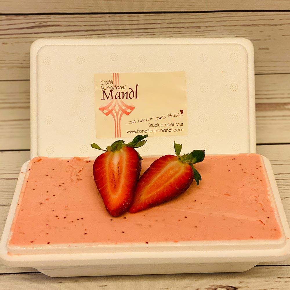 Café Konditorei Mandl Erdbeer Eis Box